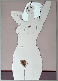 Obraz do salonu artysty Henryk Płóciennik pod tytułem Kobieta leżąca