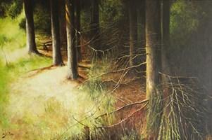 Obraz do salonu artysty Konrad Hamada pod tytułem Las