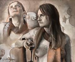 Obraz do salonu artysty Ewa Witkowska pod tytułem Pokusy i Pragnienia