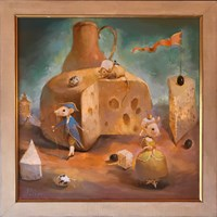 Obraz do salonu artysty Olga Pelipas pod tytułem Królowa Myszka