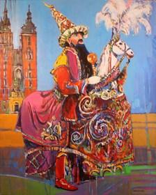 Obraz do salonu artysty Piotr Rembieliński pod tytułem Lajkonik