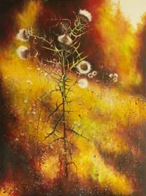 Obraz do salonu artysty Konrad Hamada pod tytułem Oset jesienny