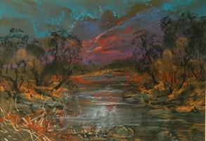 Obraz do salonu artysty Dominik Przebinda pod tytułem Pejzaż nad Wisłą