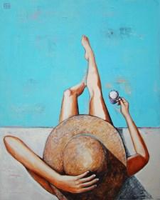 Obraz do salonu artysty Renata Magda pod tytułem Floating thoughts..