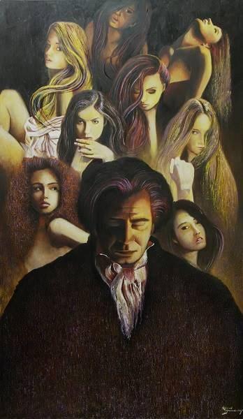 Obraz do salonu artysty Konrad Hamada pod tytułem Beethoven