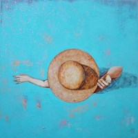 Obraz do salonu artysty Renata Magda pod tytułem Zanurzona w turkusie