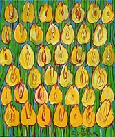 Obraz do salonu artysty Edward Dwurnik pod tytułem Żółte tulipany