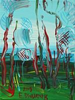 Obraz do salonu artysty Edward Dwurnik pod tytułem Sosny 2