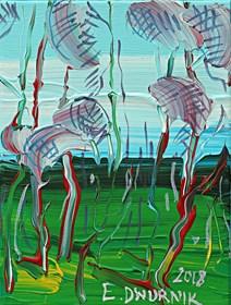 Obraz do salonu artysty Edward Dwurnik pod tytułem Sosny 3