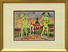 Obraz do salonu artysty Edward Dwurnik pod tytułem Nikifor