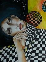 Living room painting by Iwona Wierkowska-Rogowska titled Magic