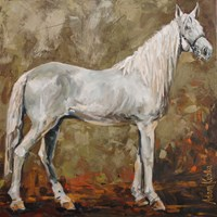Living room painting by Adam Kubka titled Horse 04