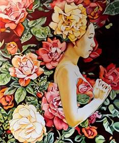 Obraz do salonu artysty Joanna Szumska pod tytułem Ogród różany