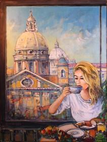 Obraz do salonu artysty Piotr Rembieliński pod tytułem Widok przez okno