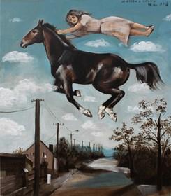 Obraz do salonu artysty Małgorzata Łodygowska pod tytułem Ucieczka z cyrku