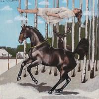 Obraz do salonu artysty Małgorzata Łodygowska pod tytułem Brzozy