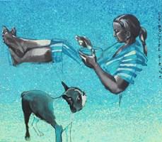 Obraz do salonu artysty Małgorzata Łodygowska pod tytułem Podziel się