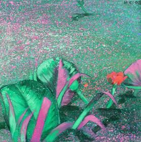 Obraz do salonu artysty Małgorzata Łodygowska pod tytułem Wodny kwiat