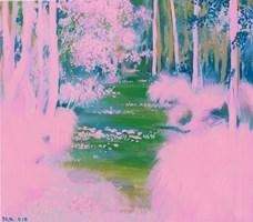 Obraz do salonu artysty Małgorzata Łodygowska pod tytułem Pink jungle