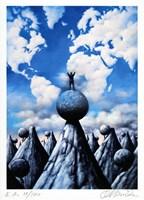 Grafika do salonu artysty Rafał Olbiński pod tytułem Superiority of consequences