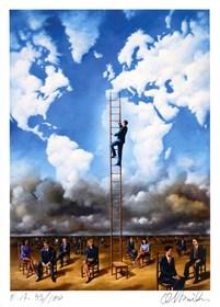 Grafika do salonu artysty Rafał Olbiński pod tytułem Bez tytułu