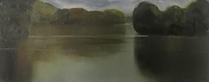 Obraz do salonu artysty Stanisław Baj pod tytułem Rzeka Bug, Lato