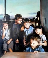 Obraz do salonu artysty Jan Dubrowin pod tytułem Dobranocka