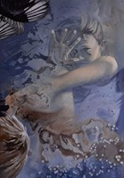 Living room painting by Mateusz Dolatowski titled Siren