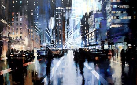 Obraz do salonu artysty Piotr Zawadzki pod tytułem Szumy miasta - NYC Night Riders II