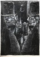 Obraz do salonu artysty Piotr Kamieniarz pod tytułem Aresztowanie Anioła