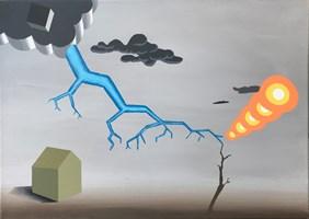 Obraz do salonu artysty Marcin Kowalik pod tytułem Studium uderzenia pioruna