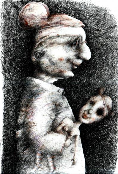Obraz do salonu artysty Piotr Kamieniarz pod tytułem Piękna i bestia II