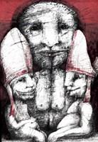 Obraz do salonu artysty Piotr Kamieniarz pod tytułem Antychryst 4