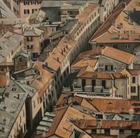 Obraz do salonu artysty Joanna Jeżewska-Desperak pod tytułem Uliczka w Bolonii