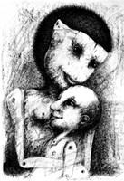 Obraz do salonu artysty Piotr Kamieniarz pod tytułem Marionetki
