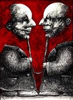 Obraz do salonu artysty Piotr Kamieniarz pod tytułem Mamy ze sobą coś wspólnego -Rozmowa