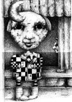 Obraz do salonu artysty Piotr Kamieniarz pod tytułem ...w tym samym przedstawieniu