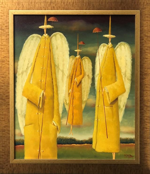 Obraz do salonu artysty Leszek Sokół pod tytułem Anioły na niepogodę