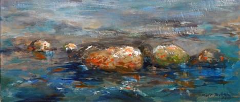 Obraz do salonu artysty Piotr Bubak pod tytułem Kamienie Gdynia
