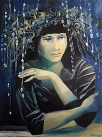 Obraz do salonu artysty Renata Kulig-Radziszewska pod tytułem Myśli atramentowe