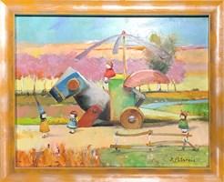 Obraz do salonu artysty David Pataraia pod tytułem Bez tytułu