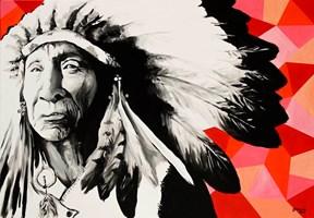 Obraz do salonu artysty Zuzanna Jankowska pod tytułem Stary indianin