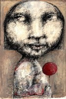 Living room painting by Piotr Kamieniarz titled Girl with lolly pop