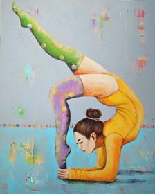 Obraz do salonu artysty Renata Magda pod tytułem Akrobatka VII