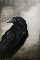 Living room painting by Klaudia Choma titled Raven