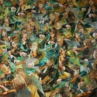 Obraz do salonu artysty Cyprian Nocoń pod tytułem 32 Skrzypków