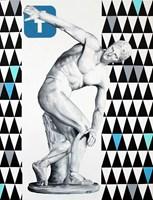 Obraz do salonu artysty Zuzanna Jankowska pod tytułem Aspołeczny dyskobol