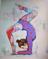 Living room painting by Renata Magda titled Gymnast VII