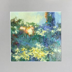 Obraz do salonu artysty Anatol Martyniuk pod tytułem Chryzantemy