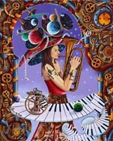 Obraz do salonu artysty Krzysztof Żyngiel pod tytułem Brama do świata muzyki